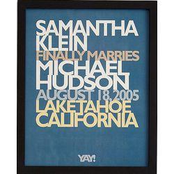 Yay! Commemorative 11x14 Framed Art