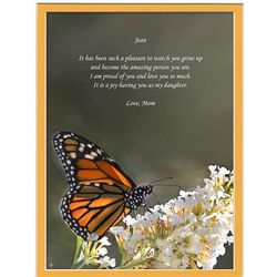 Personalized Daughter Poem on Butterfly Print