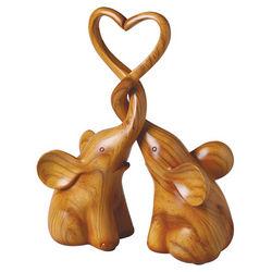 Two-Piece Elephants Heart Sculpture