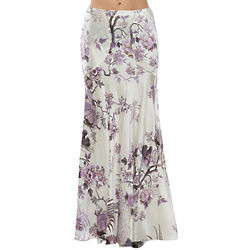 Italian Multicolor Long Skirt Silk