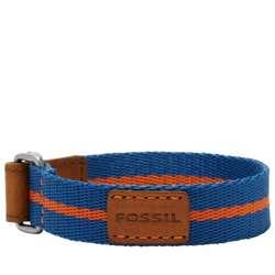 Blue and Red Preppy Textile Bracelet