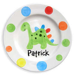 Dino-Dots Personalized Plate