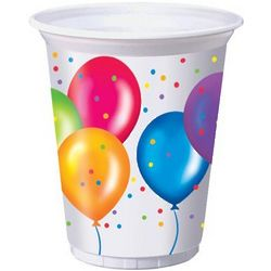 Birthday Balloons Printed Plastic Cups