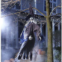 Hanging Halloween Witch with Lights
