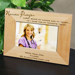 Personalized Nurse Prayer Wood Frame