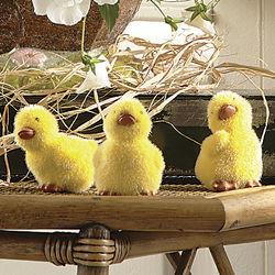 Trio of Fuzzy Ducklings