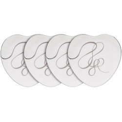 Love Story Heart-Shaped Accent Plates