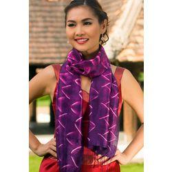 Amethyst Mystique Silk Tie-Dye Scarf