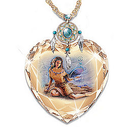Sacred Dreams Crystal Heart Pendant Necklace