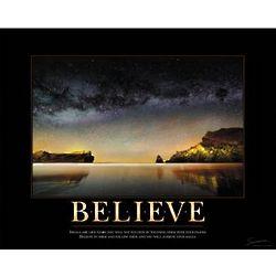 Believe Starry Sky Motivational Poster