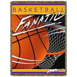 Fanatic Basketball Tapestry Throw