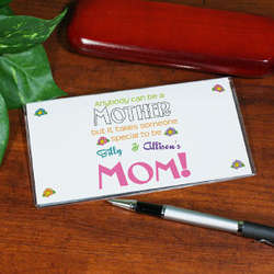 Anybody Can Be a Mother Personalized Checkbook Cover