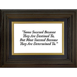 Framed 'Some Succeed' Life Quote