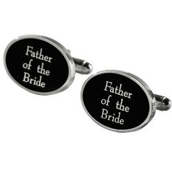 Ebony Face Father of The Bride Cufflinks