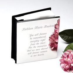 Personalized Remembrance Silver Photo Album