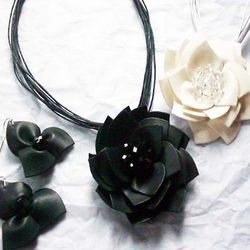 Necklace and Earring Flower Set