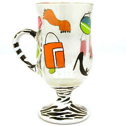 Shopaholic Too Glass Beverage Mug