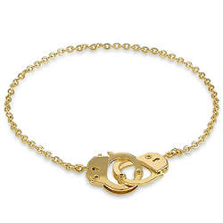 Gold Toned Handcuffs Anklet