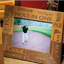 Personalized Golf Wooden Picture Frame
