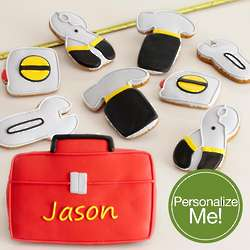 Personalized Tool Box and Tools Cookie Assortment