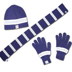 Chelsea Soccer Men's Knit Hat, Scarf, Glove Set