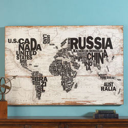 Word World Wall Art