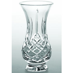 "Longford Crystal 5"" Footed Bulb Vase"