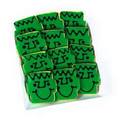 Dozen Frankenstein Smiley Cookies