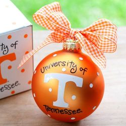 University of Tennessee Logo Glass Ornament