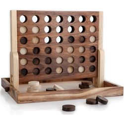Four-in-a-Row Wooden Desktop Game