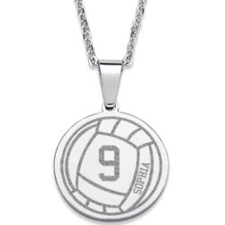 Stainless Steel Volleyball Pendant