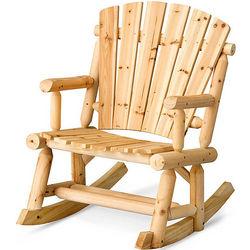 Wood Log Adirondack Rocking Chair