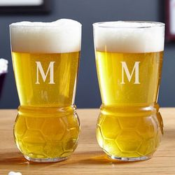 Double Victory Soccer Beer Glass Set