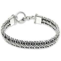 Men's Balinese Centipede Sterling Silver Bracelet