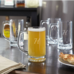 4 Contempo Personalized Tavern Beer Mugs
