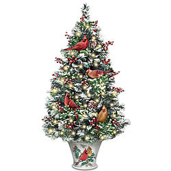 Winter's Beautiful Blessings LED-Lighted Christmas Tabletop Tree