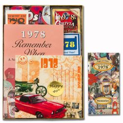 Personalized 40th Birthday Time Capsule Box for 1978