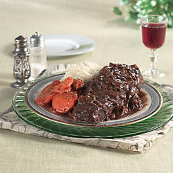 Boneless Beef Short Ribs with Mushroom Sauce