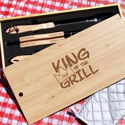 Personalized Barbecue Grill Set