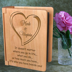 Personalized Always Beside You Wooden Photo Album