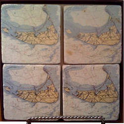 Nantucket Nautical Map Coasters