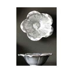 Large Floral Aluminum Bowl
