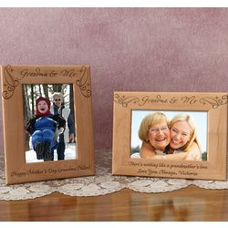 Personalized Royale Grandma & Me Wooden Picture Frame