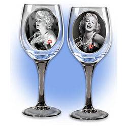Marilyn Monroe Signature Wine Glasses