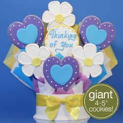 Hearts and Flowers Thinking of You Cookie Bouquet