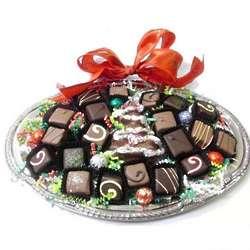 Christmas Tree Chocolate Gift Platter
