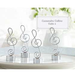 Love Songs Silver Music Note Place Card Photo Holders