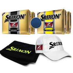 Golf Balls, Cap, and Golf Towel