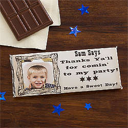 Wanted Cowboy Personalized Candy Bar Wrappers