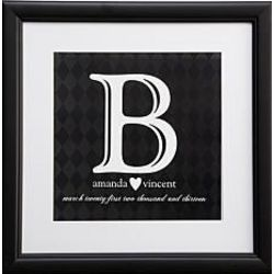 Personalized Initial Framed Wedding Print